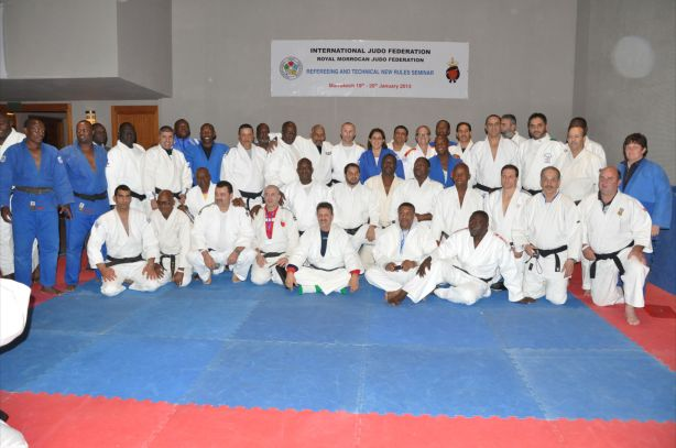 Referees and Coaches attending the IJF Seminar