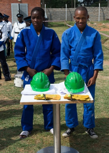 Botswana Judoka Edwin Sello part of the Ground Breaking Ceremony