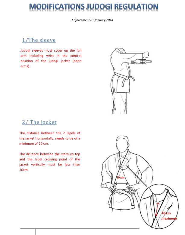 New Judo Gi regulations